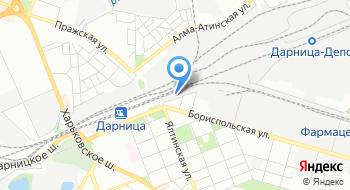 Украинская железнодорожная скоростная компания на карте