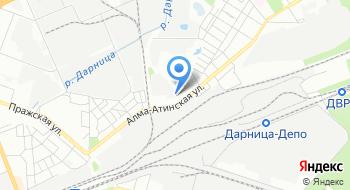 Межотраслевое предприятие промышленного железнодорожного транспорта Киев-Днепровское на карте