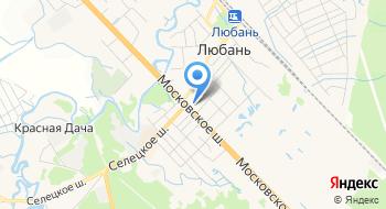 Отделение почтовой связи Любань 187050 на карте