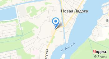 Отделение почтовой связи Новая Ладога 187453 на карте