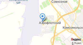 Международный аэропорт Симферополь на карте