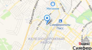 Ведомственная охрана железнодорожного транспорта РФ, Крымский отряд на карте