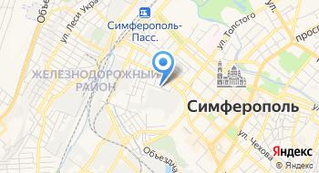Отделение почтовой связи Симферополь 295051 на карте