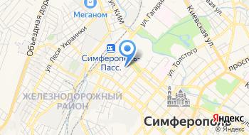 Отделение почтовой связи Симферополь 295006 на карте