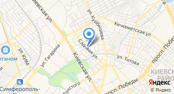 Общежитие Симферополь на карте