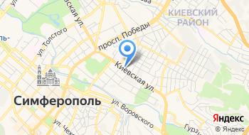 Отделение почтовой связи Симферополь 295017 на карте