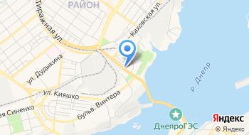 Днепровская электро-энергетическая система на карте