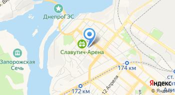 Запорожские магистральные электрические сети на карте
