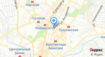 Киевская Огни город Харьков на карте