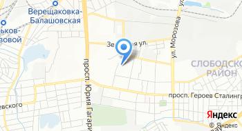Слобожанское казачье войско на карте