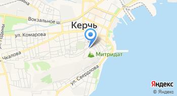 Городище Пантикапей на карте