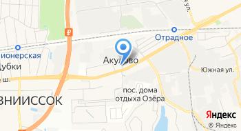 Физкультурно-оздоровительный комплекс Акулово на карте