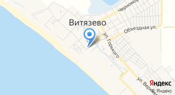Пляжная территория санатория Огонек. на карте