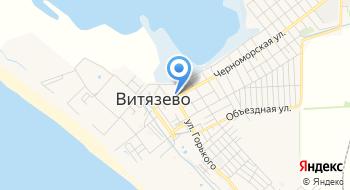 Пансионат Черноморский на карте