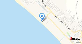 Пляжная территория Пансионата АК Алроса на карте