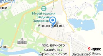 Школа танцев в Архангельском на карте