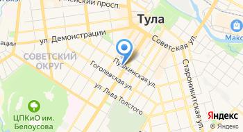 Дружба, лагерь, офис в Туле на карте