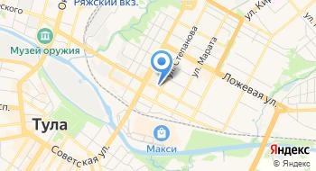 Тульская почтовая служба на карте