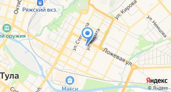 ГУЗ Детская инфекционная больница № 2 города Тулы, поликлиника № 1 на карте