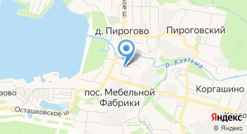 Такси Пирогово на карте