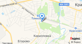 Томилинский лесопарк на карте