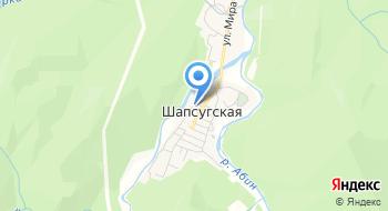 Отделение почтовой связи Шапсугская 353326 на карте