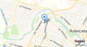 Детский сад Комбинированного Вида № 3 г. Алексеевка Белгородской области на карте