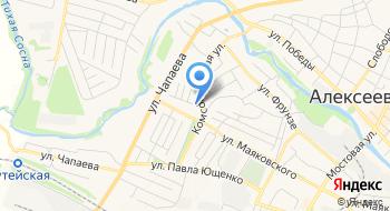 Отделение почтовой связи Алексеевка 309854 на карте