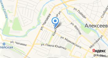 Церковь Димитрия, митрополита Ростовского, в Алексеевке на карте