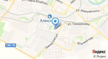 Отделение почтовой связи Алексеевка 309852 на карте