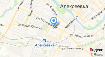 Детский сад Комбинированного Вида № 12 г. Алексеевка Белгородской области на карте