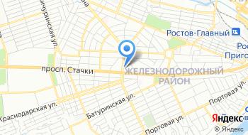 ТИК Железнодорожного района г. Ростова-на-Дону на карте