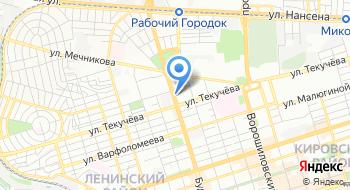 Отделение почтовой связи Ростов-на-Дону 344018 на карте