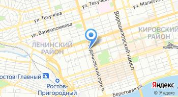 Ростовский-на-Дону государственный цирк на карте
