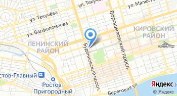 Отделение почтовой связи Ростов-на-Дону 344002 на карте