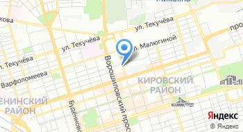 Отделение почтовой связи Ростов-на-Дону 344000 на карте