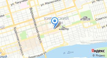 Департамент автомобильных дорог и организации дорожного движения города Ростова-на-Дону на карте