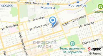 М2М телематика-Ростов на карте