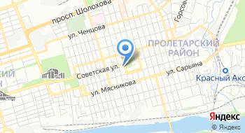 Пролетарский районный суд города Ростова-на-Дону на карте