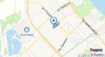 Дзержинский РОСП города Ярославля на карте
