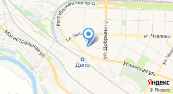 Дом отдыха локомотивных бригад города Ярославля на карте