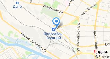 Железнодорожный вокзал Ярославль-Главный на карте