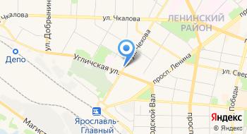 Дом Ночного Пребывания для Лиц Без Определенного Места Жительства и Занятий Города Ярославля на карте