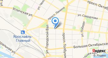 Союз Объединение организаций профсоюзов Ярославской области на карте