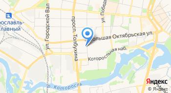 Отдел ПФР в Кировском и Ленинском районах города Ярославля на карте