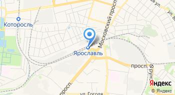 Железнодорожный вокзал Ярославль на карте
