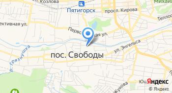 Отделение почтовой связи Поселок Свободы 357551 на карте