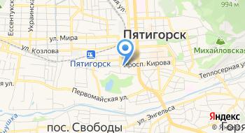 Котельная Грязелечебница ЛПУП Пятигорская бальнеогрязелечебница на карте