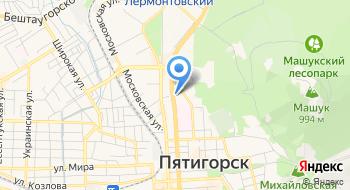 Отделение почтовой связи Пятигорск 357519 на карте