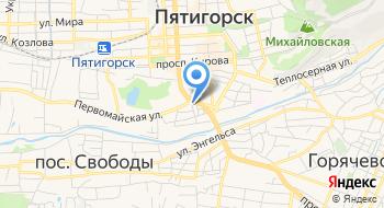 Тур клуб Анти-Кефир КМВ на карте